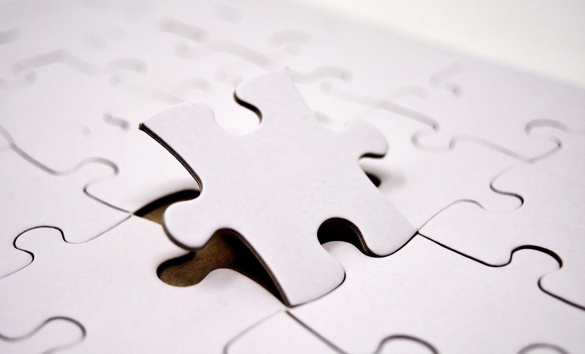 Puzzle che si compone.